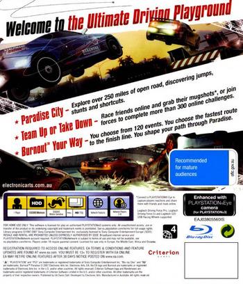 Burnout Paradise PS3 backM (BLES00073)