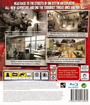 Tom Clancy's Rainbow Six: Vegas 2 PS3 backM (BLES00237)