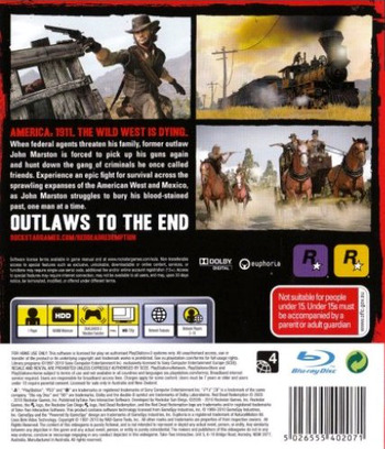 Red Dead Redemption PS3 backM (BLES00680)
