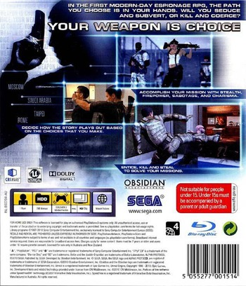 Alpha Protocol PS3 backM (BLES00704)