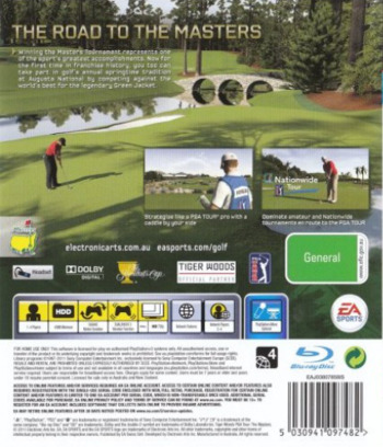 Tiger Woods PGA Tour 12: The Masters PS3 backM (BLES01177)