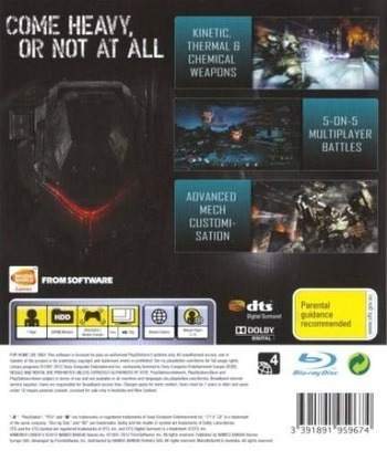 Armored Core: V PS3 backM (BLES01440)