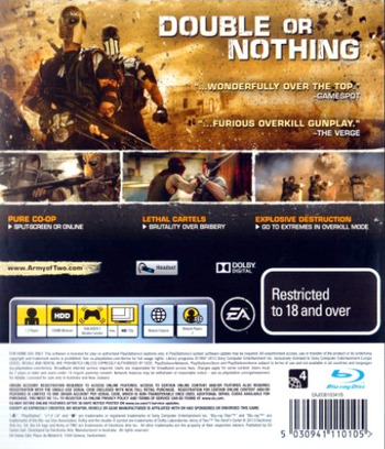 Army of Two: The Devil's Cartel PS3 backM (BLES01763)
