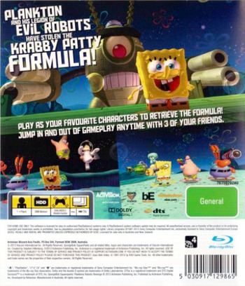 SpongeBob SquarePants: Plankton's Robotic Revenge PS3 backM (BLES01911)
