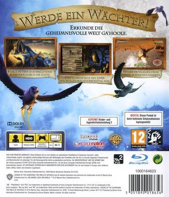 Die Legende der Wächter PS3 backM (BLES00964)