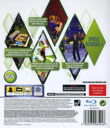 Die Sims 3 PS3 backM (BLES01016)