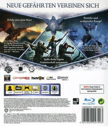 Der Herr der Ringe: der Krieg im Norden PS3 backM (BLES01181)