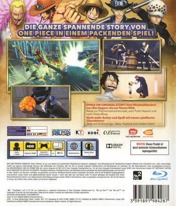 One Piece Pirate Warriors 3 PS3 backM (BLES02140)