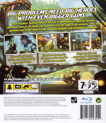 Ratchet & Clank: Tools of Destruction PS3 backM (BCES00052)