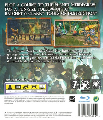 Ratchet & Clank: Quest for Booty PS3 backM (BCES00301)