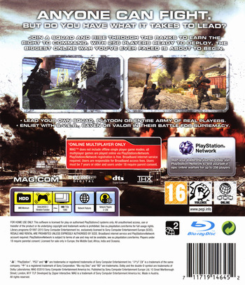 MAG PS3 backM (BCES00558)