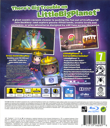 LittleBigPlanet 2 (Extras Edition) PS3 backM (BCES01694)