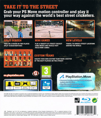 Move Street Cricket II PS3 backM (BCES01695)