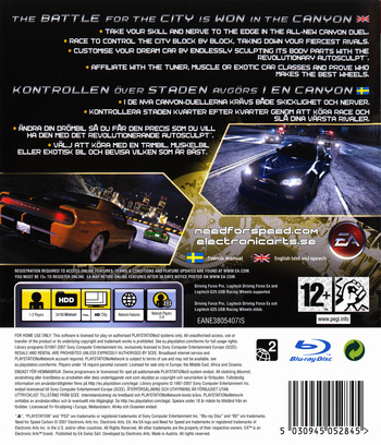 Need for Speed: Carbon PS3 backM (BLES00020)