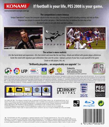 Pro Evolution Soccer 2008 PS3 backM (BLES00110)