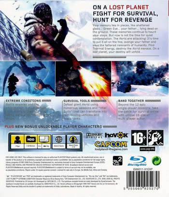 Lost Planet: Extreme Condition PS3 backM (BLES00198)