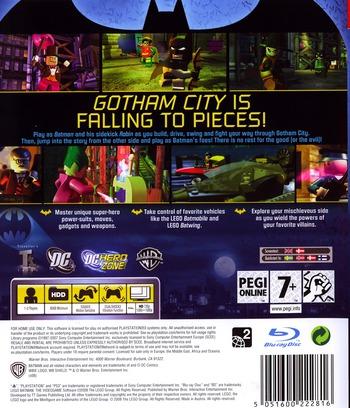 LEGO Batman: The Videogame PS3 backM (BLES00332)