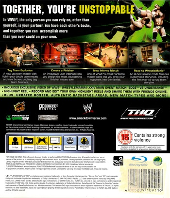 WWE Smackdown vs Raw 2009 PS3 backM (BLES00361)
