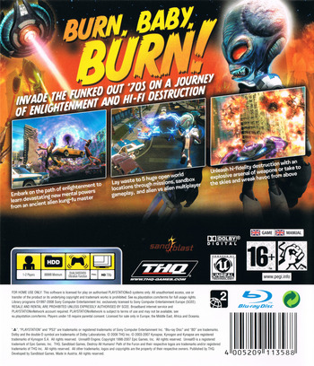 Destroy All Humans! Path of the Furon PS3 backM (BLES00467)