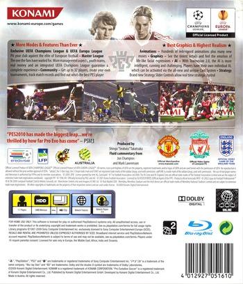 Pro Evolution Soccer 2010 PS3 backM (BLES00688)
