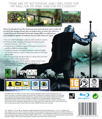 History: Great Battles Medieval PS3 backM (BLES00822)
