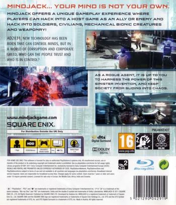 MindJack PS3 backM (BLES01009)