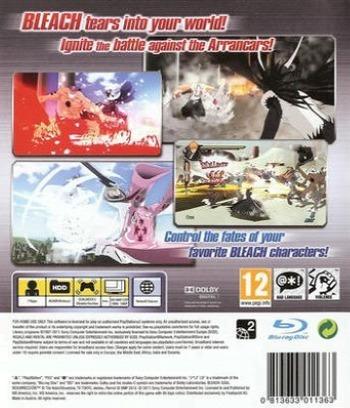 Bleach: Soul Resurrección PS3 backM (BLES01315)