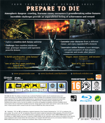 Dark Souls: Limited Edition PS3 backM (BLES01402)