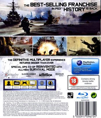 Call of Duty: Modern Warfare 3 PS3 backM (BLES01428)