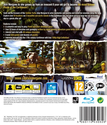 Captain Morgane and the Golden Turtle PS3 backM (BLES01463)