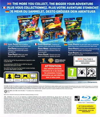 Lego Dimensions PS3 backM (BLES02105)