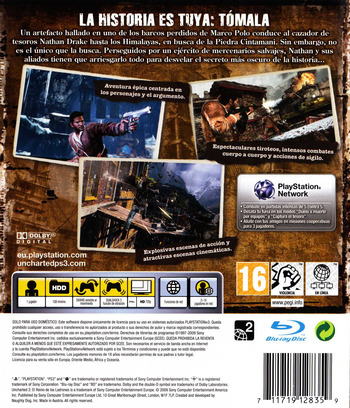 Uncharted 2: El Reino de los Ladrones PS3 backM (BCES00757)