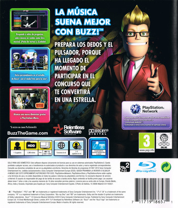 Buzz! El Concurso Musical Definitivo PS3 backM (BCES00830)