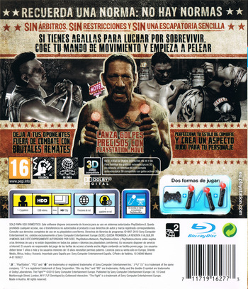 The Fight: Lucha o Muere PS3 backM (BCES00874)
