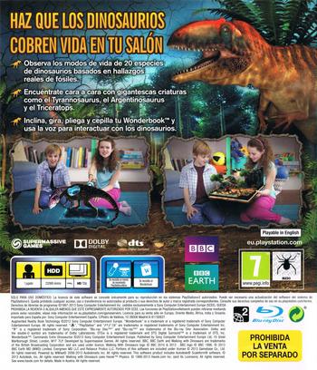 Wonderbook: Caminando entre Dinosaurios PS3 backM (BCES01806)