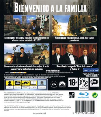 El Padrino:Don Corleone PS3 backM (BLES00047)