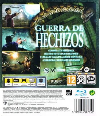 Harry Potter y Las Reliquias de la Muerte: Parte 1 PS3 backM (BLES00931)