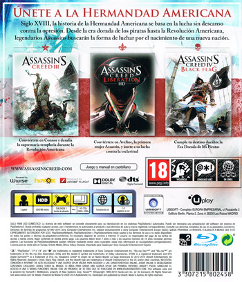Assassin's Creed: El origen de un nuevo mundo - La Saga Americana PS3 backM (BLES02085)