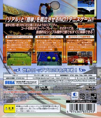 パワースマッシュ3 (Sega the Best) PS3 backM (BLJM60102)