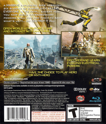 inFamous (Greatest Hits) PS3 backM (BCUS98119)