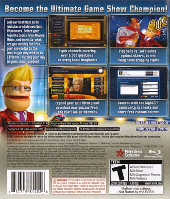 Buzz! Quiz TV (Bundle) PS3 backM (BCUS98145)