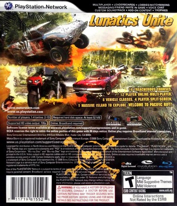 MotorStorm: Pacific Rift PS3 backM (BCUS98155)