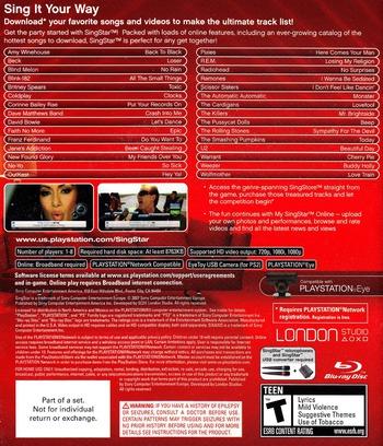SingStar PS3 backM (BCUS98161)