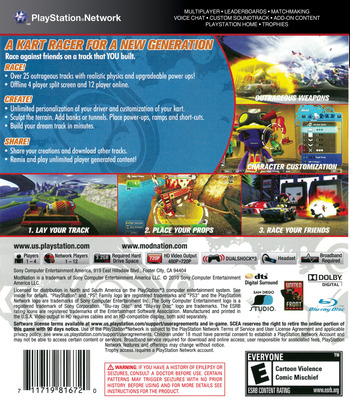 ModNation Racers PS3 backM (BCUS98167)