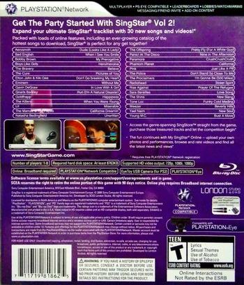 SingStar Vol.2 PS3 backM (BCUS98186)