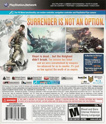 Killzone 3 PS3 backM (BCUS98234)