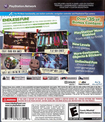 LittleBigPlanet 2 (Special Edition) PS3 backM (BCUS98372)