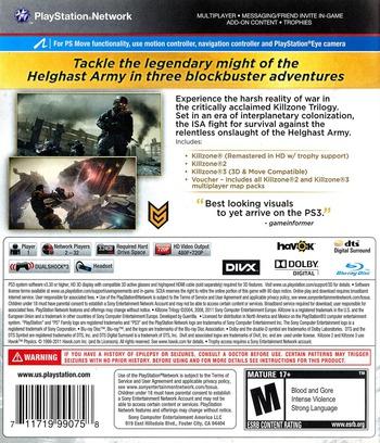 Killzone Trilogy PS3 backM (BCUS99075)