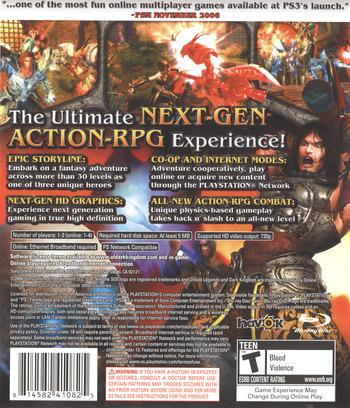 Untold Legends: Dark Kingdom PS3 backM (BLUS30002)