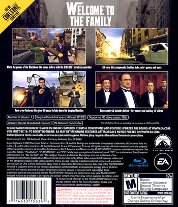 The Godfather: The Don's Edition PS3 backM (BLUS30023)